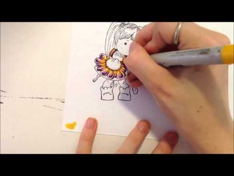 Copic Tutorial - Two Tone Colouring and Magnolia Speed Colouring