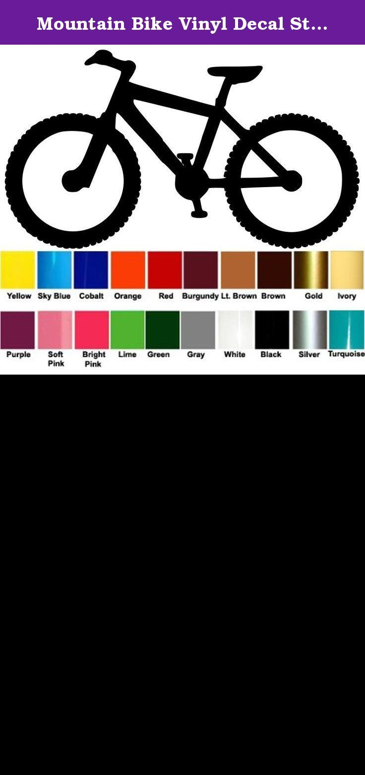 Sticker design for mountain bike - Mountain Bike Vinyl Decal Sticker 5 5 X 3 Biking Mtb Atb Bicycle Xc Downhill