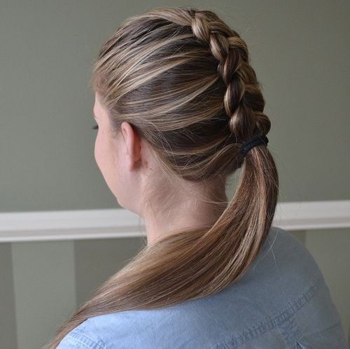 Braided Ponytail Ideas 40 Cute Ponytails With Braids Black Hair Updo Hairstyles Braided Ponytail Hair Styles