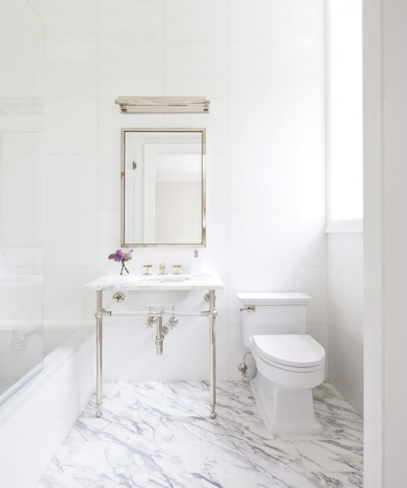 How To Master The Perfect White Marble Bathroom   Domino & How To Master The Perfect White Marble Bathroom   Bathrooms ...