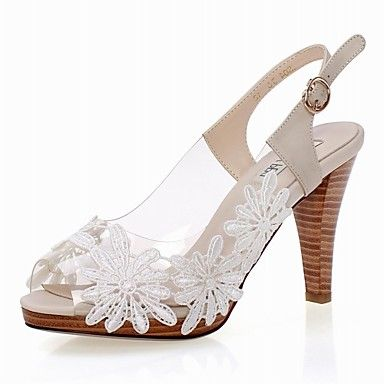 b471d0bdaeab4d Elegant Plastic Chunky Heel Sandals With Flower Party Evening Shoes – USD    59.99