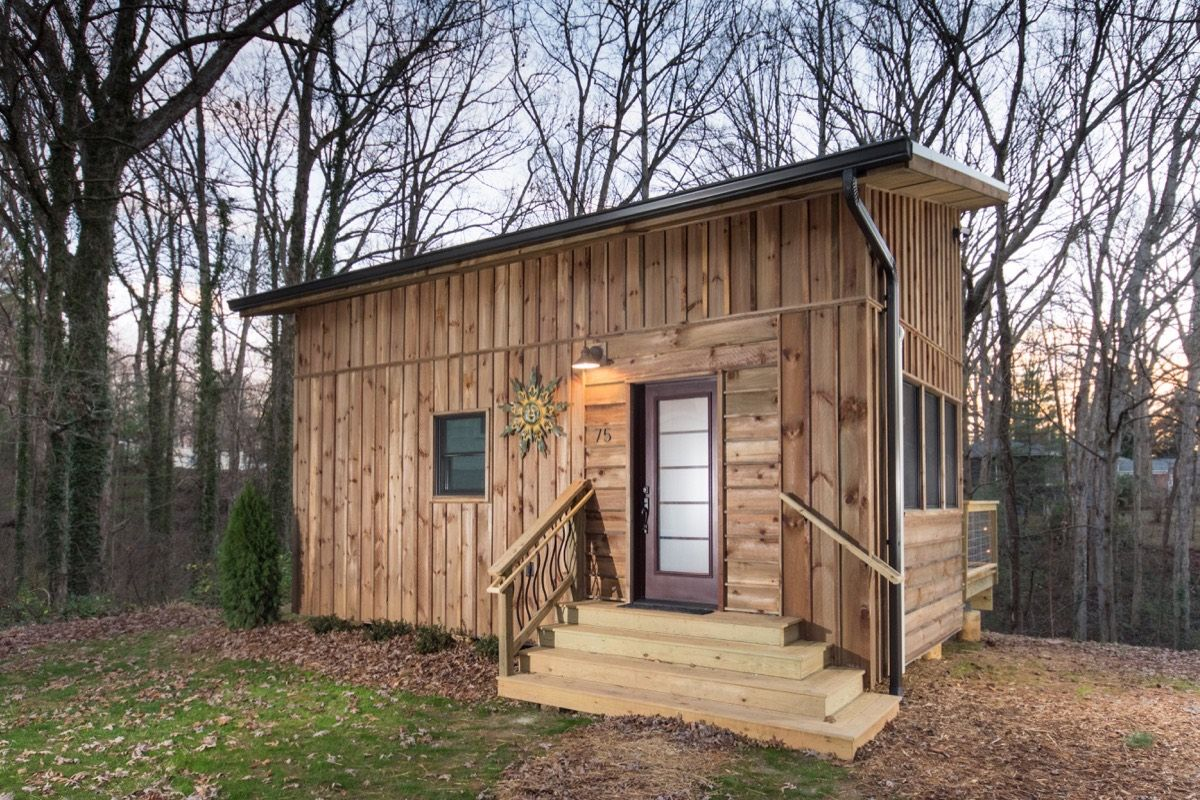Hawk Creek Adu Tiny Cabin By Nanostead In North Carolina With Images Tiny House Cabin