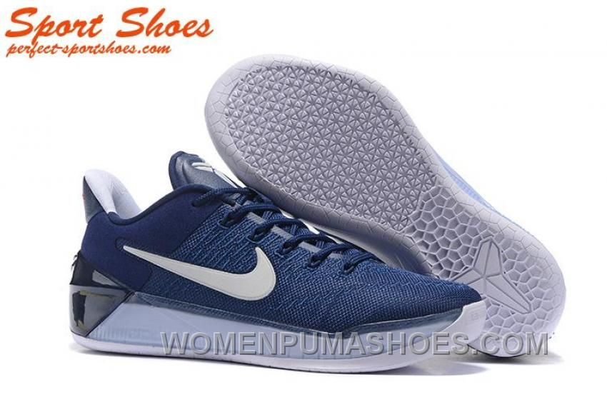 58620f6aa035 Nike Kobe A.D. Sneakers For Men Low Navy Blue White New Style K7p8pDt