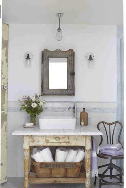 the polished pebble country living vintage bathroom bathroom rh pinterest com