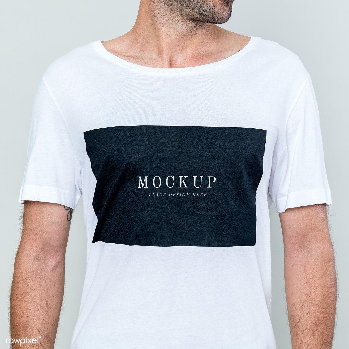Download Download Premium Psd Of Man Wearing White T Shirt Mockup 2291273 Shirt Mockup White Tshirt Men Hoodie Mockup