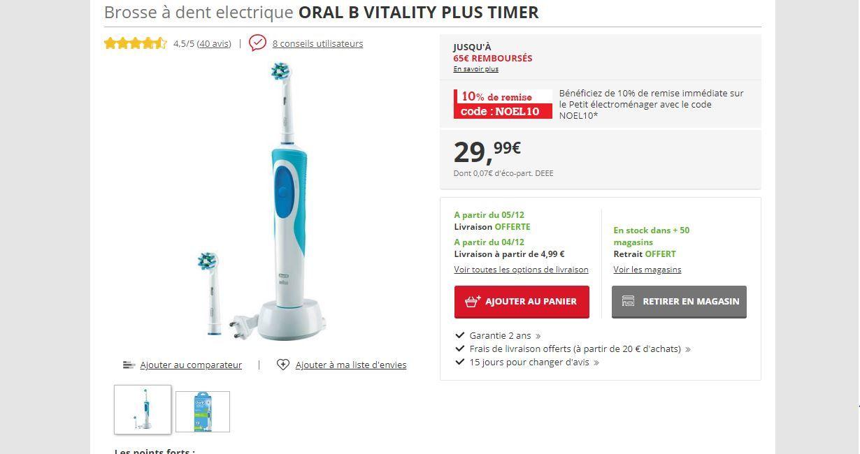 Brosse A Dent Electrique Oral B Vitality170 Vitality 170 Brosse A Dent Electrique Plaque Dentaire Brosse A Dent