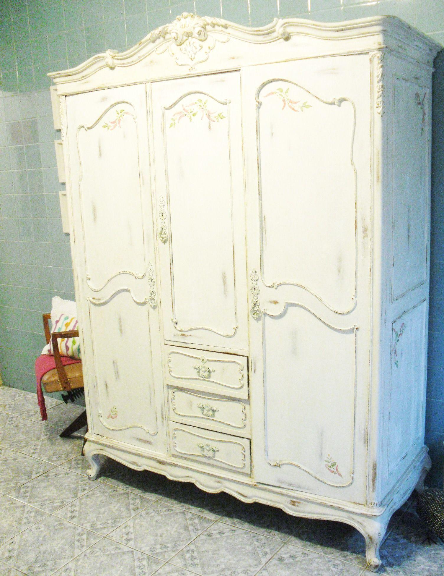 guarda-roupa,vintage,pátina,reforma de móveis,móveis antigos,stêncil ...