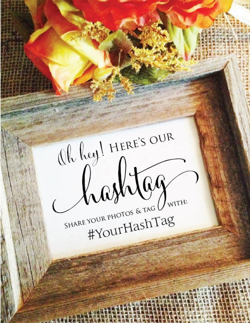 Wedding Hashtag Sign V3 Hashtag wedding sign Rustic