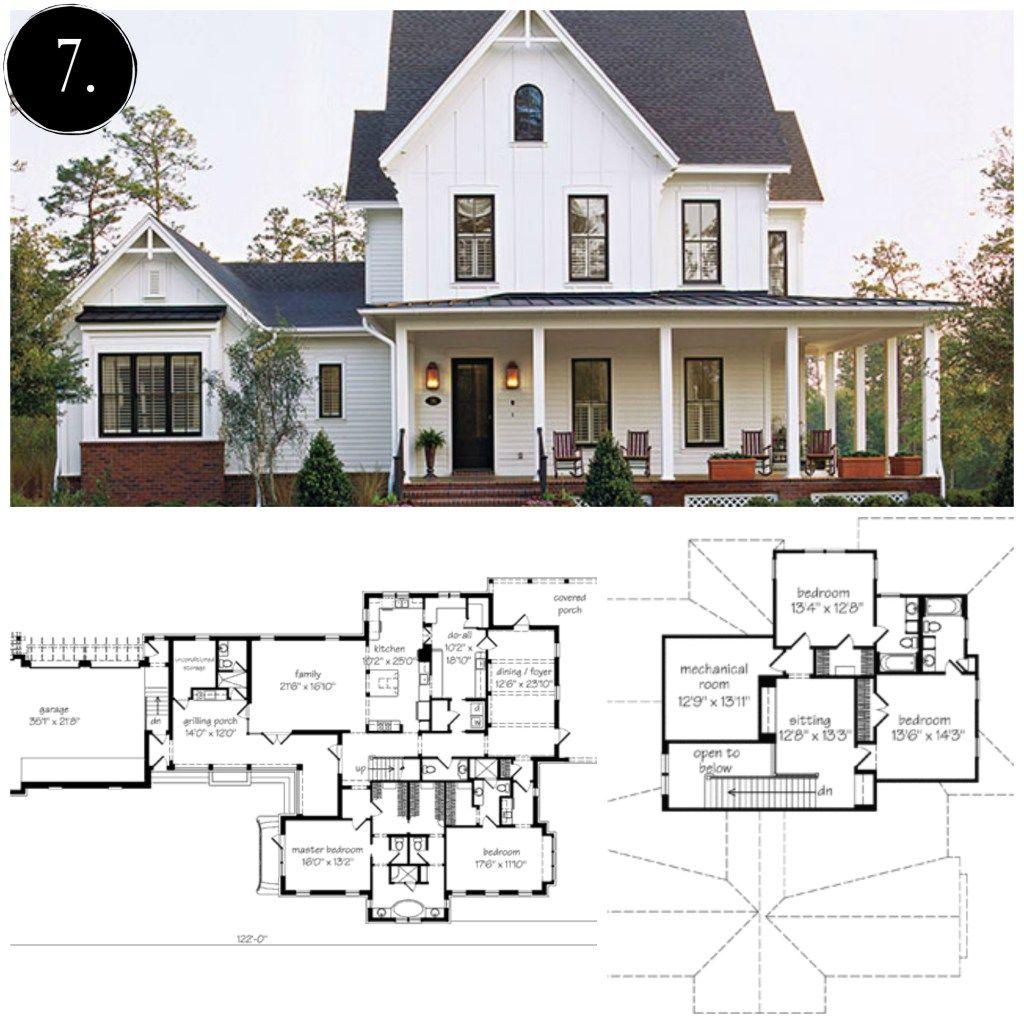 . 10 Modern Farmhouse Floor Plans I Love   Future home in 2019