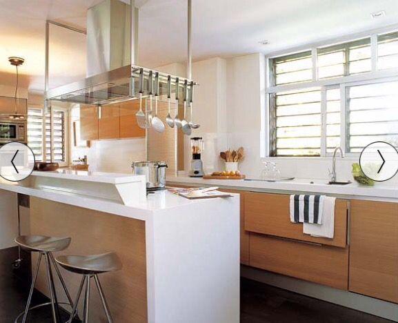 Cocina madera cubierta blanca  Cocina  Kitchen Home