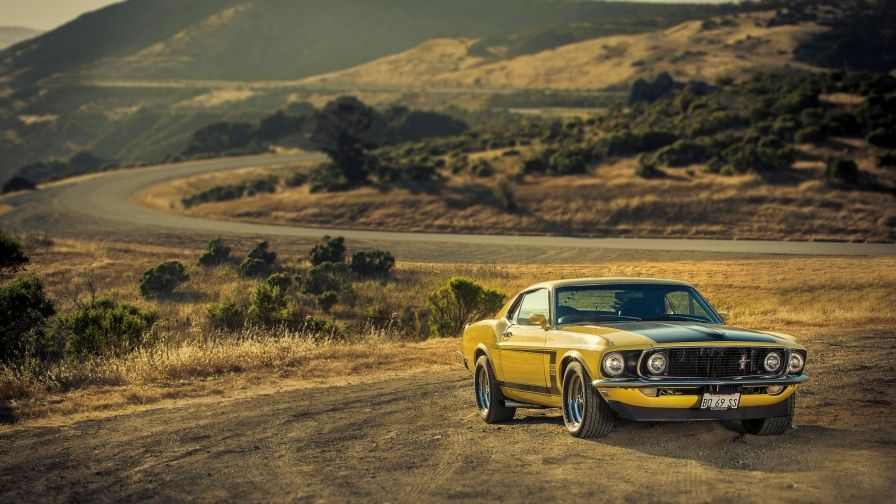 yellow ford mustang boss 302 wallpaper download full hd size free