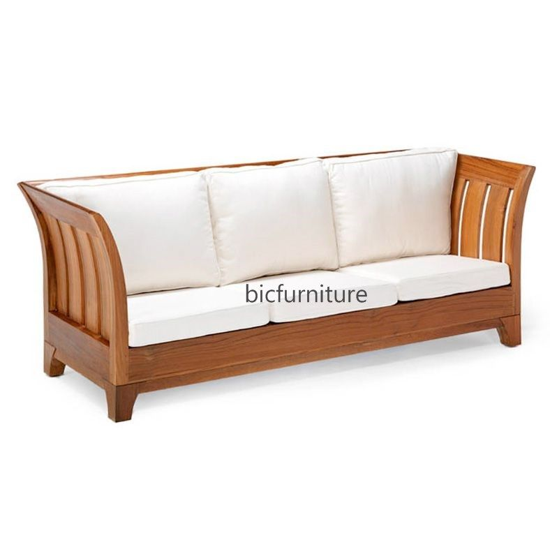 Stylish Teak Wood 3 Seater Sofa For The Living Room By Bic