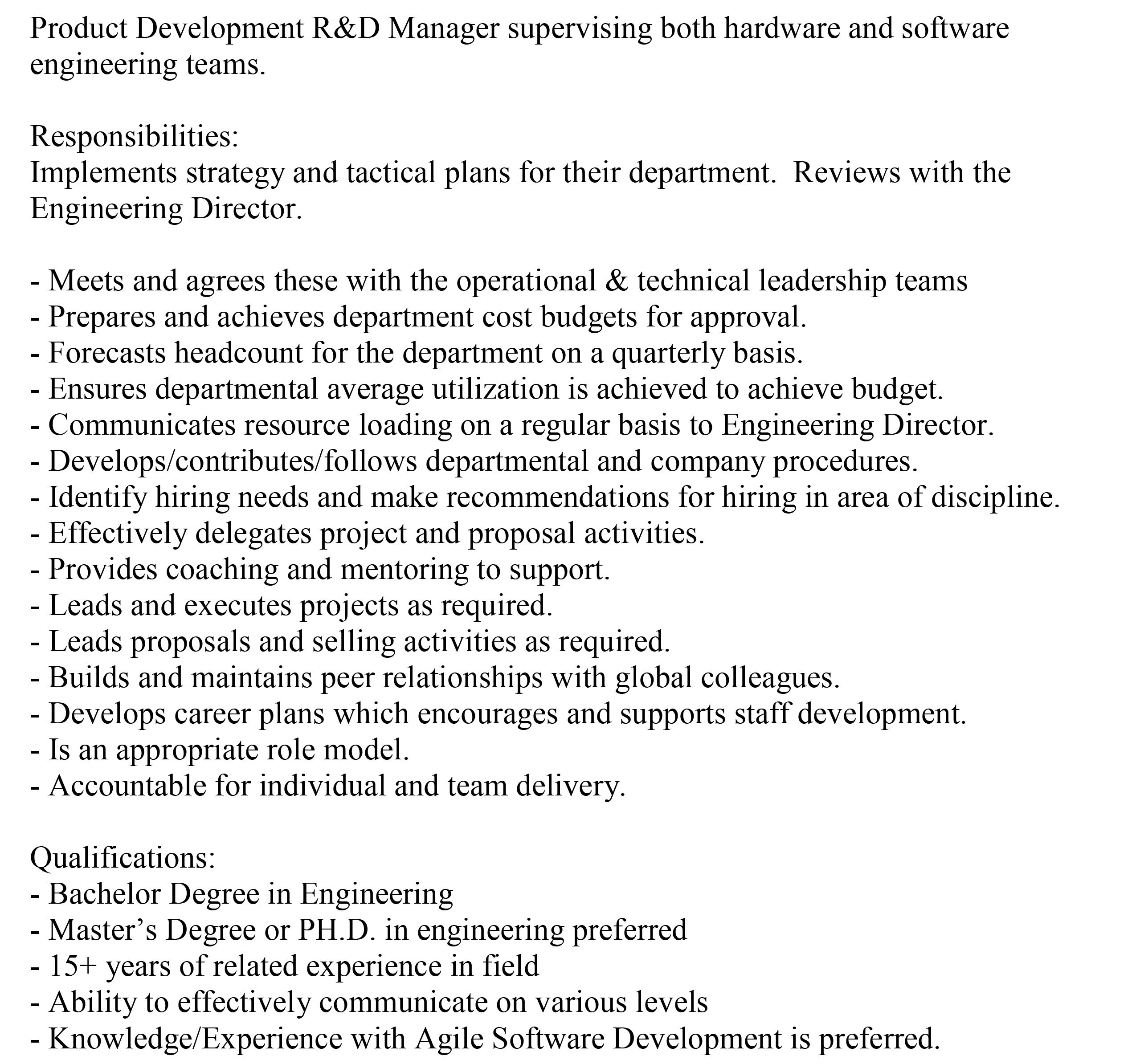 skill area manager if you are interested in this position please skill area manager if you are interested in this position please email your resume to dryan
