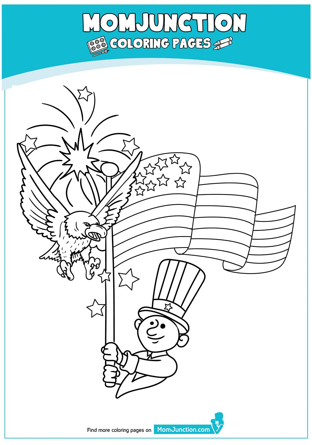 Independence Day 4th July 17 Coloring Pages Coloring Pages For Kids Felt Pattern [ 1500 x 1050 Pixel ]