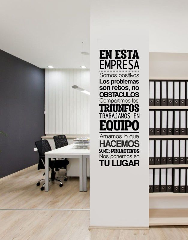 Frase Empresa - Vinilos Decorativos Fotomurales Adhesivos - Medellín