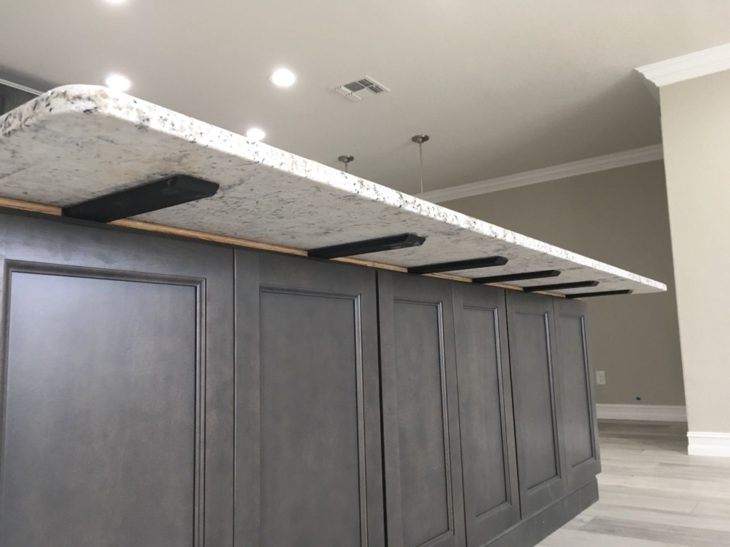 Hidden Island Support Bracket Countertop Support Brackets Island Countertops Floating Shelf Hardware