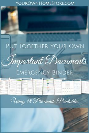 Create an Important Documents Grab and Go binder is part of Bill Organization Folder - If you were asked to evacuate, could you do so quickly  Would you remember to grab all the documents your family might need  These 18 printable pages (and accompanying 2 week eCourse will help you get ready to evacuate with confidence!