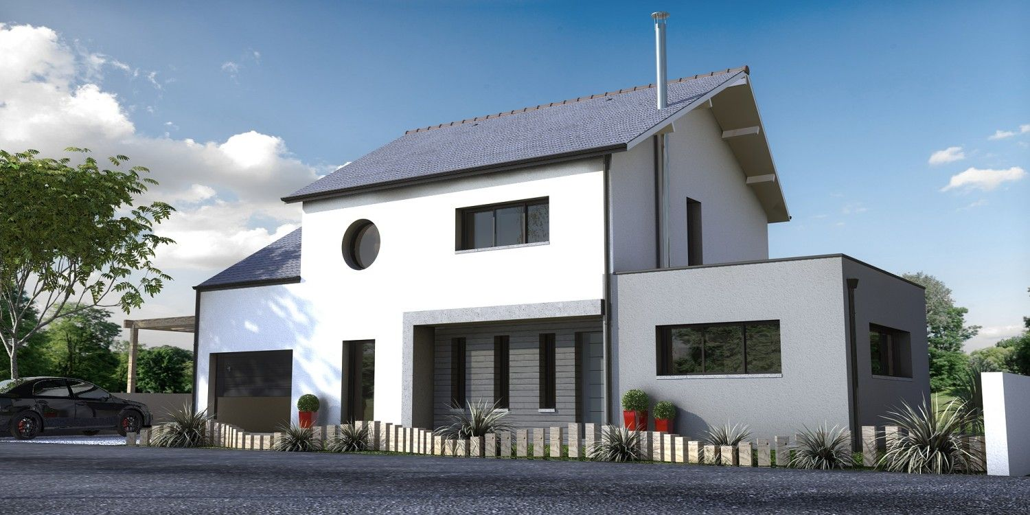 Constructeur maison contemporaine ancenis loire atlantique for Constructeur maison contemporaine