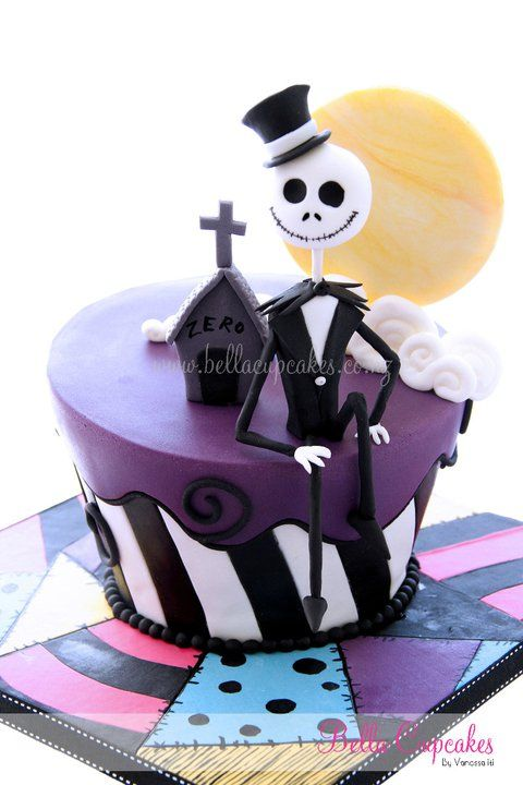 Bolo Nightmare Before Christmas (Nightmare Before Christmas Cake