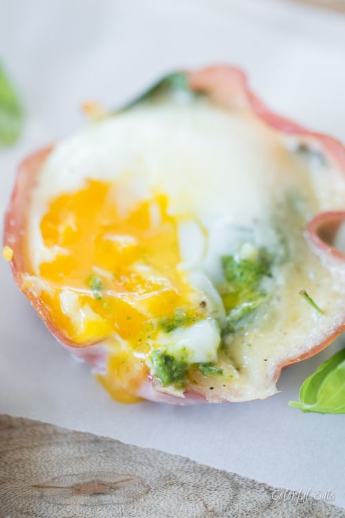 Paleo Baked Green Eggs and Ham by Colorful Eats