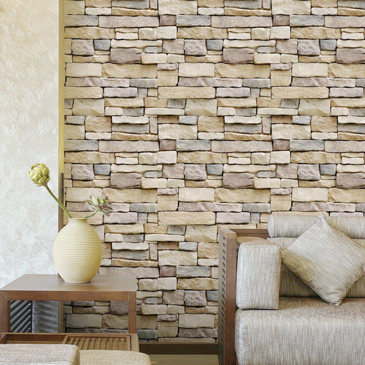 Self Adhesive 3d Brick Schist Wallpaper Sticker Film Wall Sticker Roll 10mx45cm Vinyl Mural Bedroom Living Room Home Decoration Walmart Com In 2021 Brick Wallpaper Wall Stickers Brick Wall Stickers Wallpaper