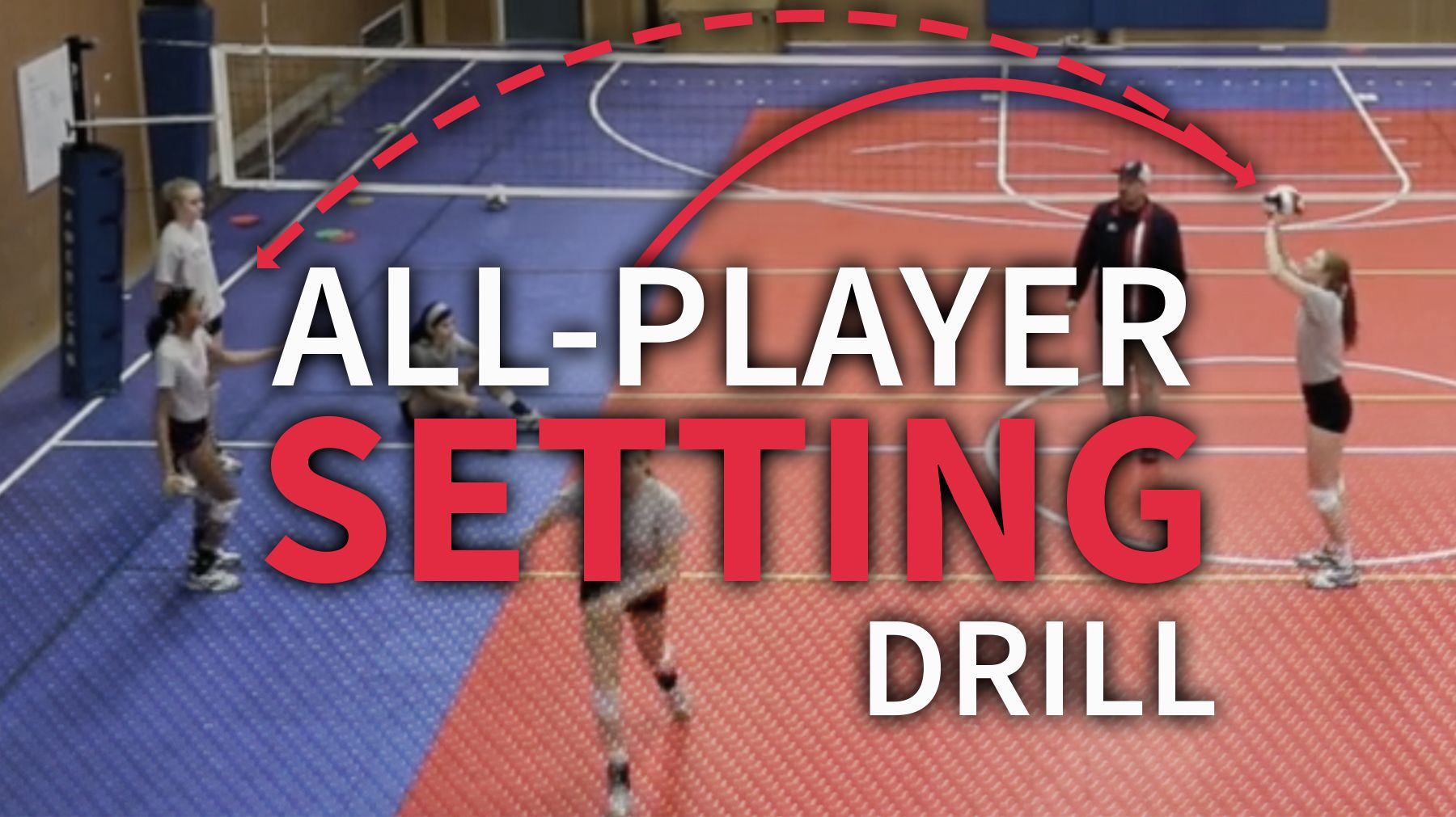 All Player Setting Drill For Reps And Conditioning The Art Of Coaching Volleyball Setting Drills Coaching Volleyball Volleyball Workouts