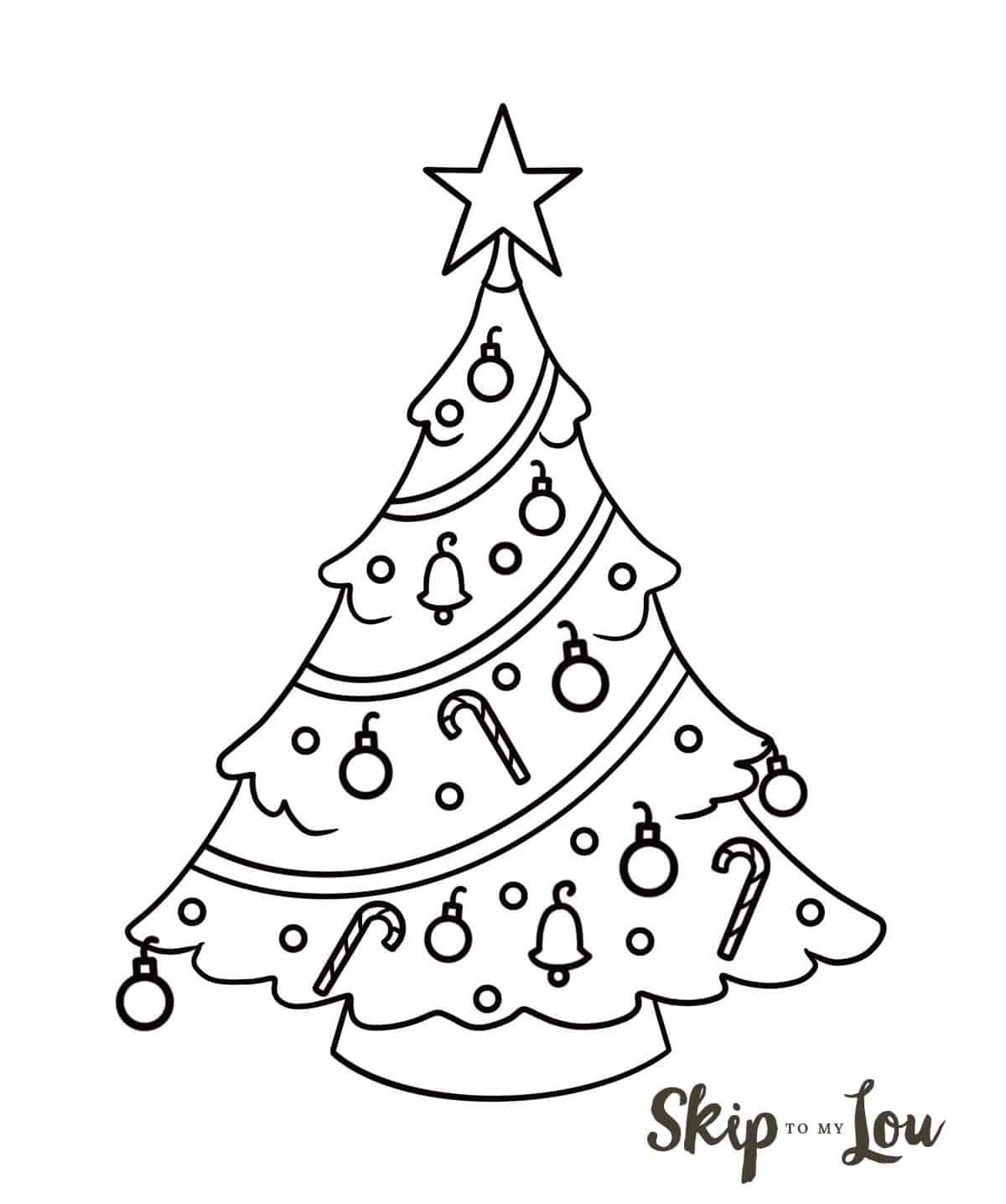 545019dfdd6e708b1753d1d8469be038 » Easy Printable Christmas Tree Drawing
