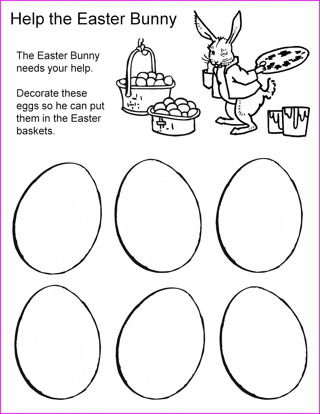 First Grade Easter Worksheets