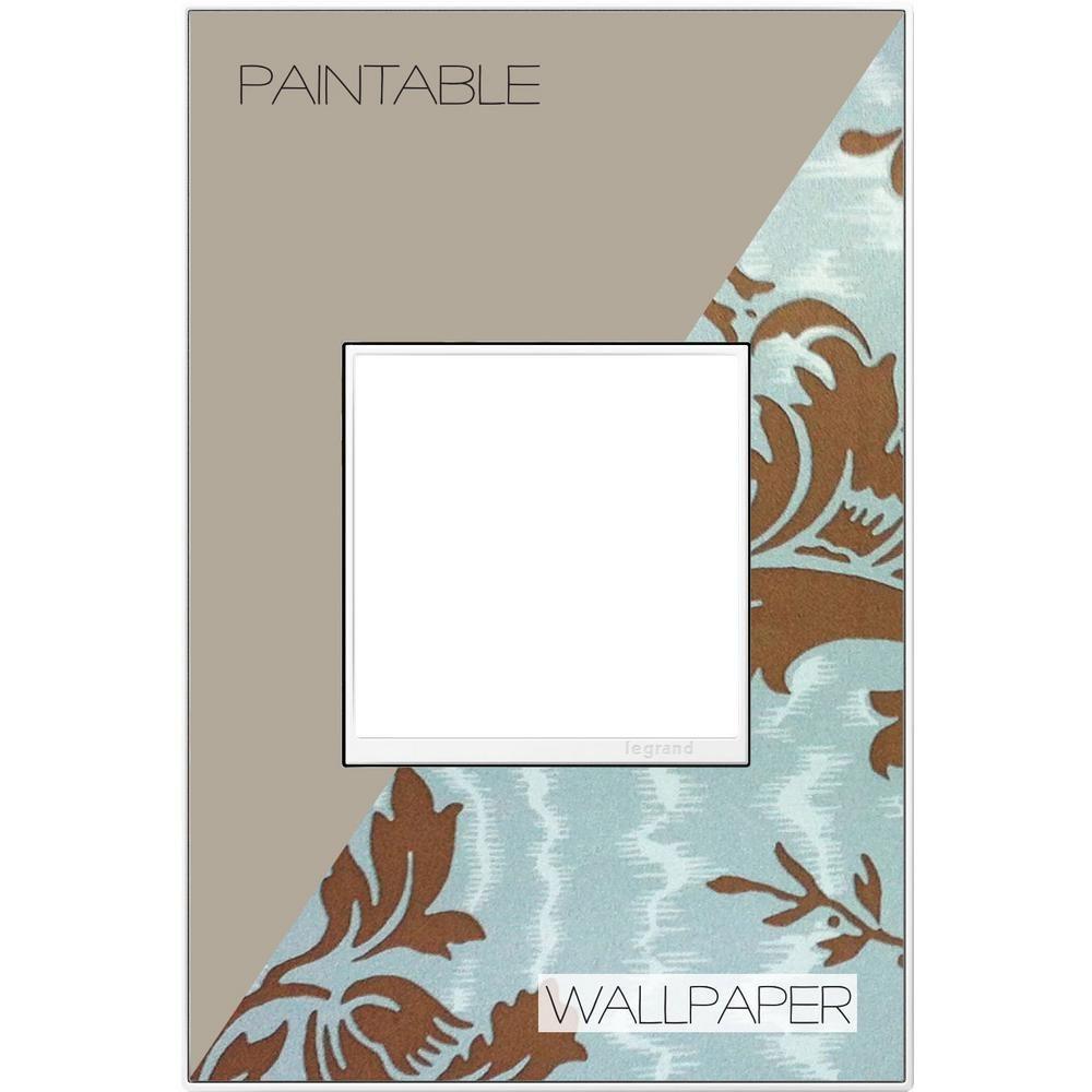 Legrand adorne 1Gang 2 Module Wall Plate, Custom, White