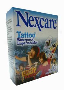 Nexcare Tattoo Waterproof Bandages Disney Camp Rock 20 Count By 3m