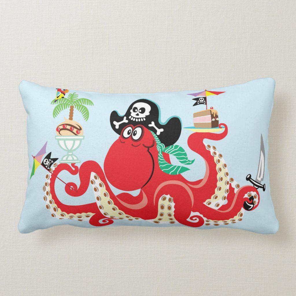 Custom Throw Pillow - octopus pirate Pillows - Zazzle Personalized Throw Pillow