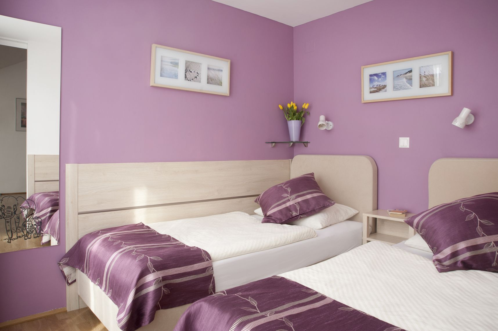 Bedroom interior roof bedroom with variant  single beds  appartement   pinterest
