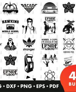 Stranger Things SVG Bundle svg, dxf, png, eps and pdf