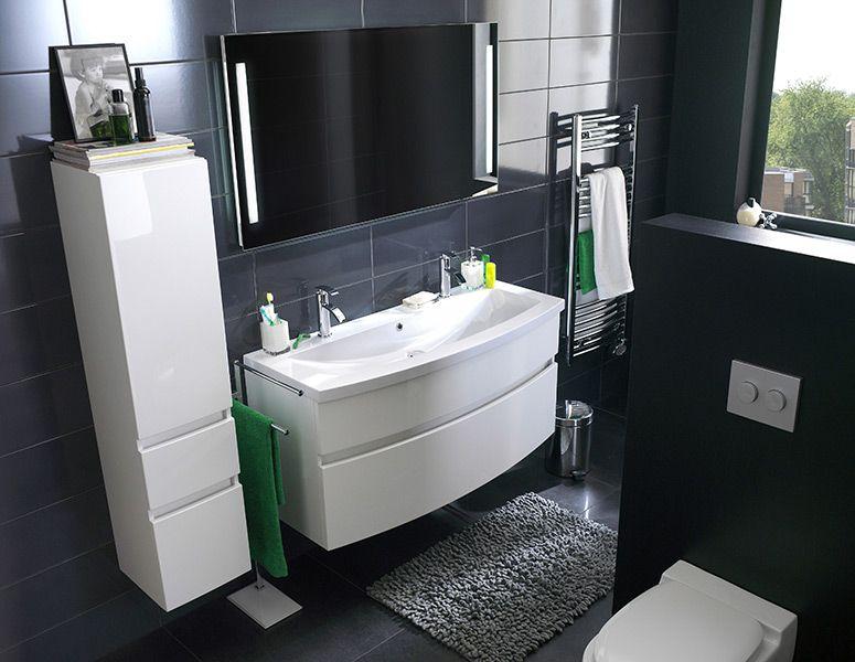 meuble salle de bain castorama noir