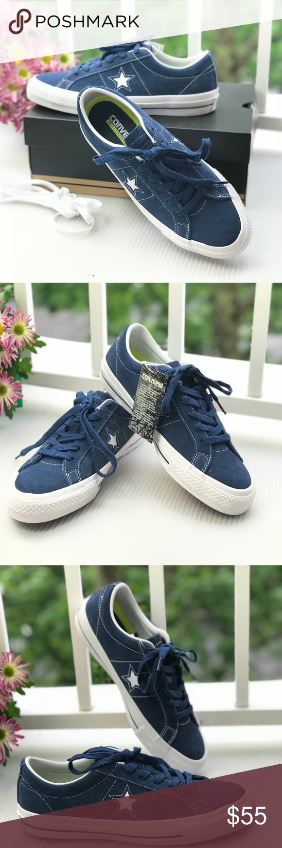 NWT Converse One Star Skate Navy Suede W AUTHENTIC Brand new