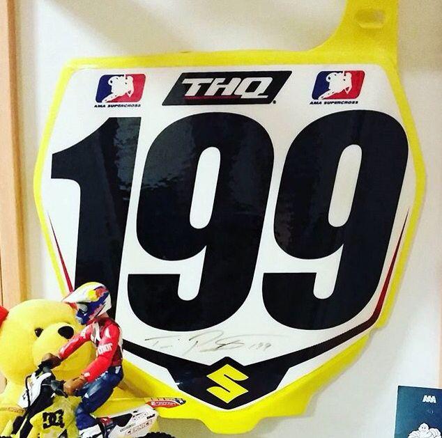 travis pastrana 199 factory racing plate somos racing
