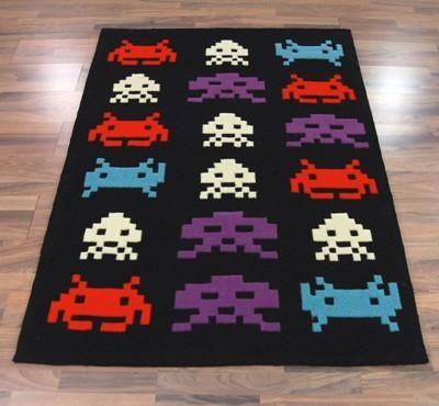 Space Invaders Rug For That Retro Game House I Often Dream Of Oh