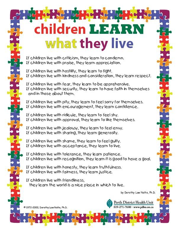Poems For Children-Children Learn What They Live-Adoption ...