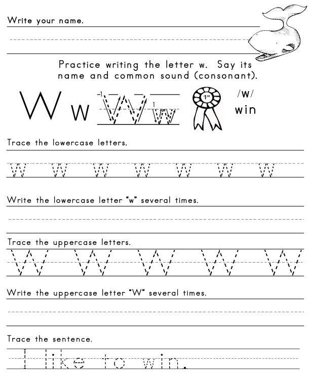 Letter W Worksheet 1 Letters Of The Alphabet Pinterest