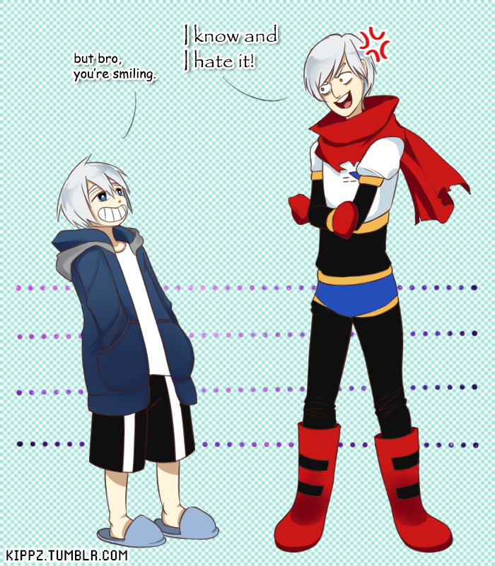 Human Sans and Papyrus by Kippei-san deviantart com on