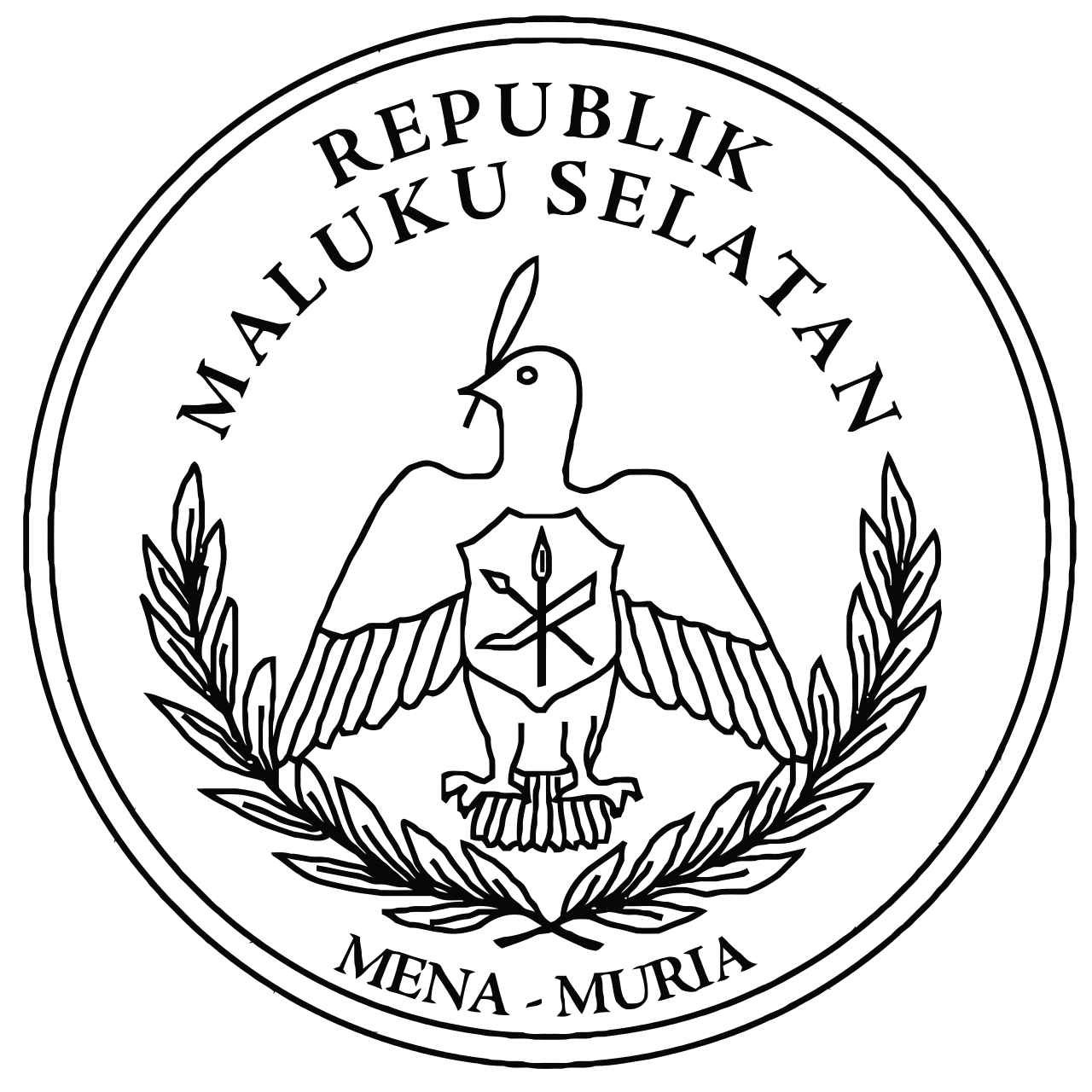 Seal Of The Republik Maluku Selatan Molukken Symbolen Cultuur