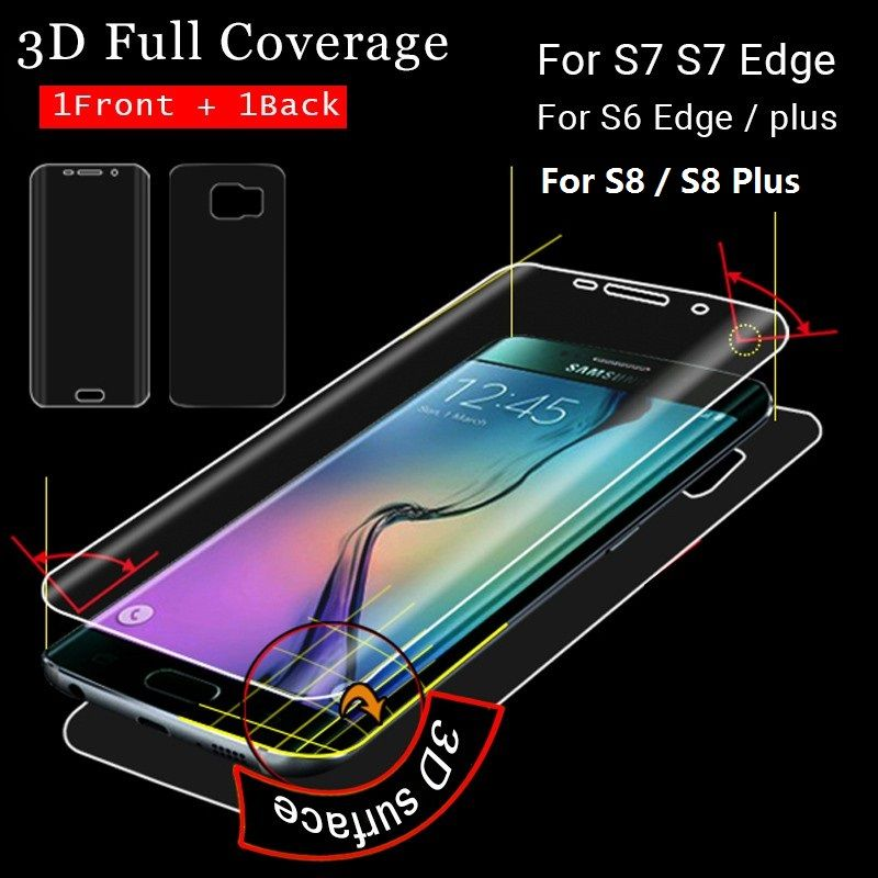 >> Click to Buy << 3D Nano Explosion-proof Cover For Samsung Galaxy S7 Edge S6 Edge S8 Plus (Not Tempered Glass) Screen Protection Foil Full Cover #Affiliate