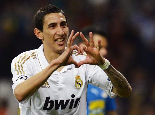 Angel Di Maria Heart Goal Celebration Manchester United Players Angel Di Maria College Football