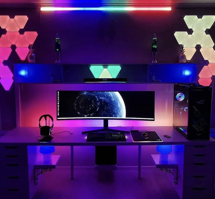 Amazing Rgb Gaming Room Setup Gaming Room Setup Room Setup Game Room Kids