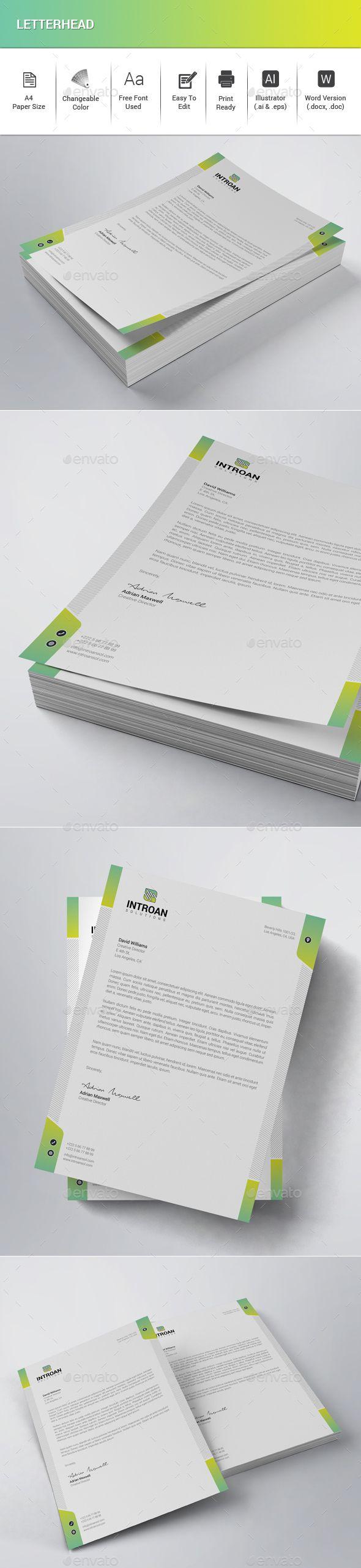letterhead template vector eps ai illustrator ms word