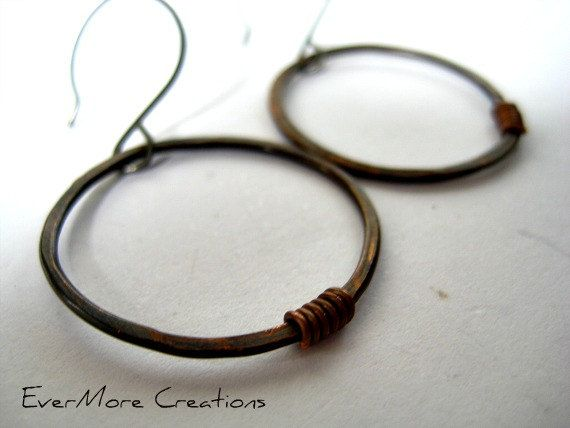 Handcrafted Organic Earrings. Artisan by EverMoreCreationsINC, $15.00