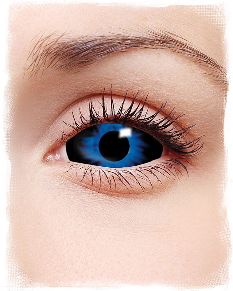 Sclera contact lenses dark blue White contact lenses
