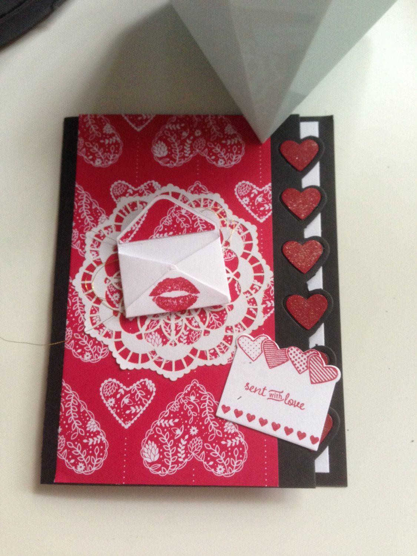 handmade sending love valentines day card