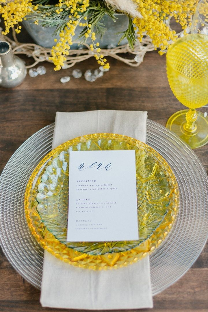 Yellow wedding details | fabmood.com #wedding #springwedding #yellowwedding #weddinginspiration