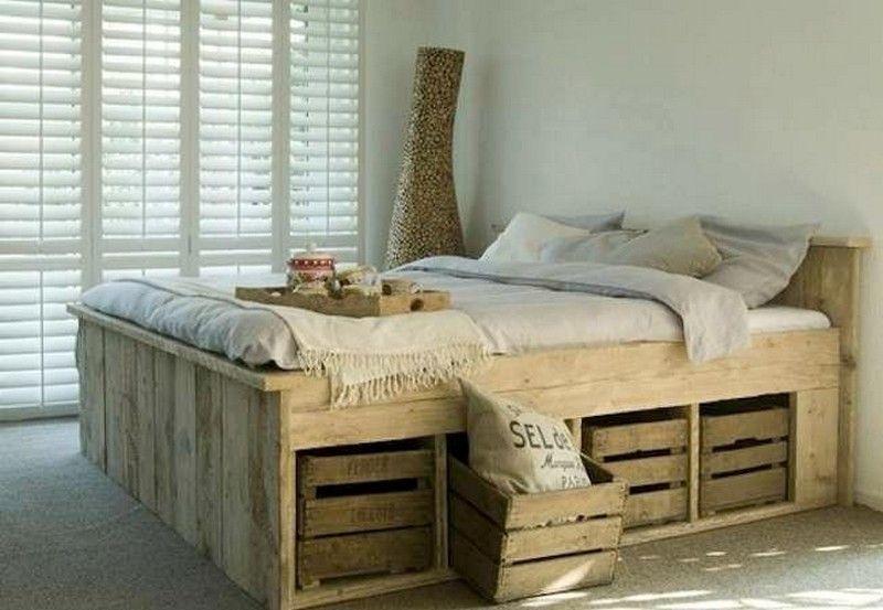 Muebles de almacenaje con palets   Palets, Camas y Palets muebles